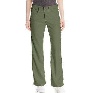 NYDJ Wylie Boho Army Green Linen Trouser Pants